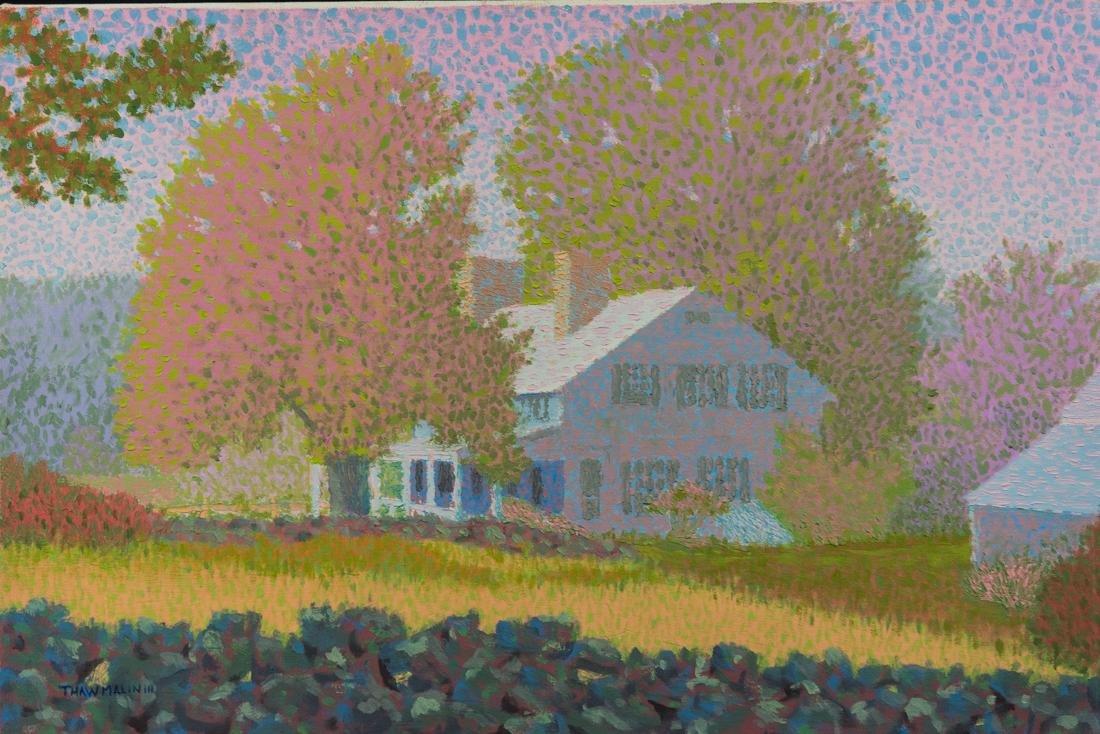 Summer Landscape Oil Painting Vintage - 2