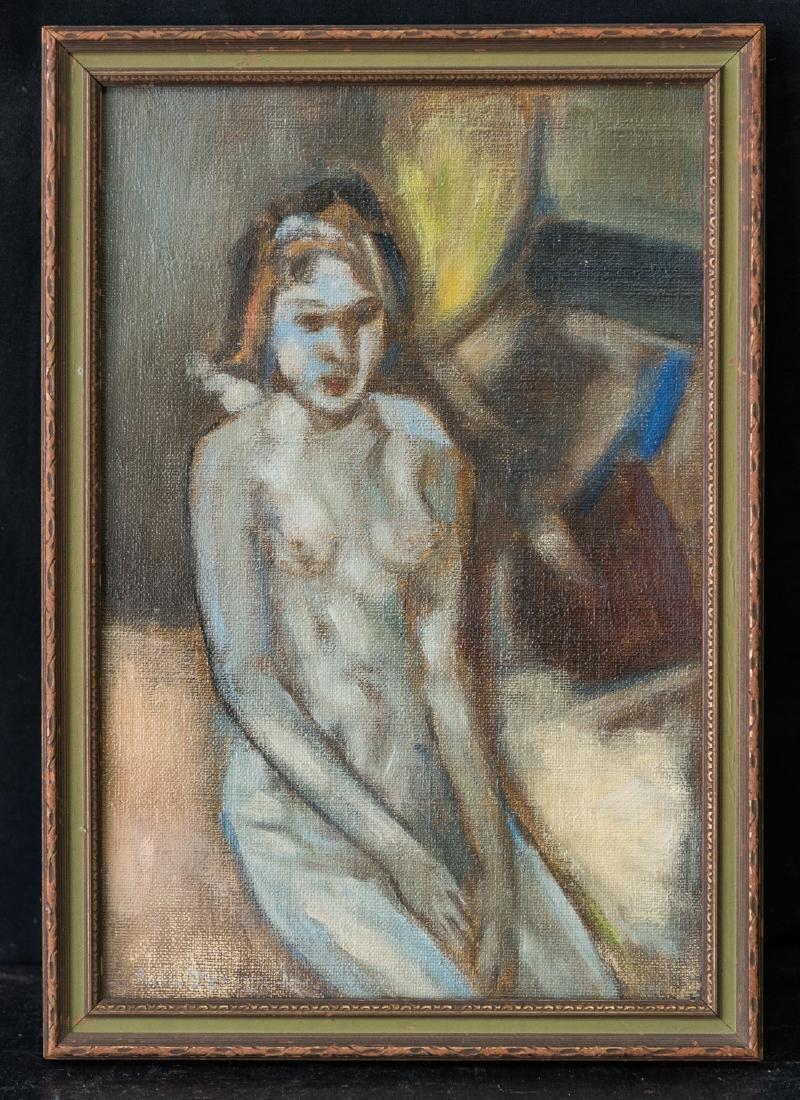 Modernist Nude Girl Portrait