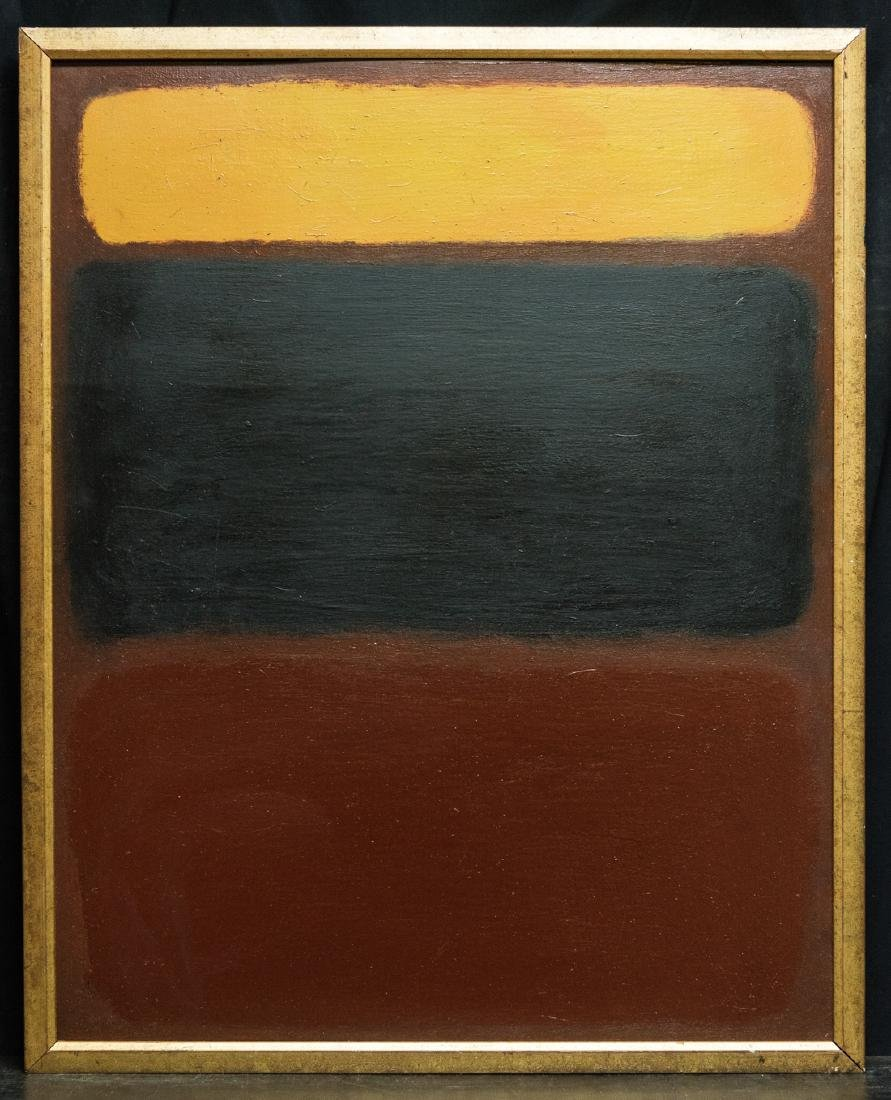 Abstract Oil Attribute to Mark Rothko