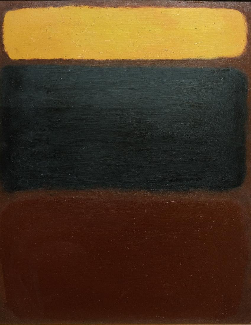 Abstract Oil Attribute to Mark Rothko - 2