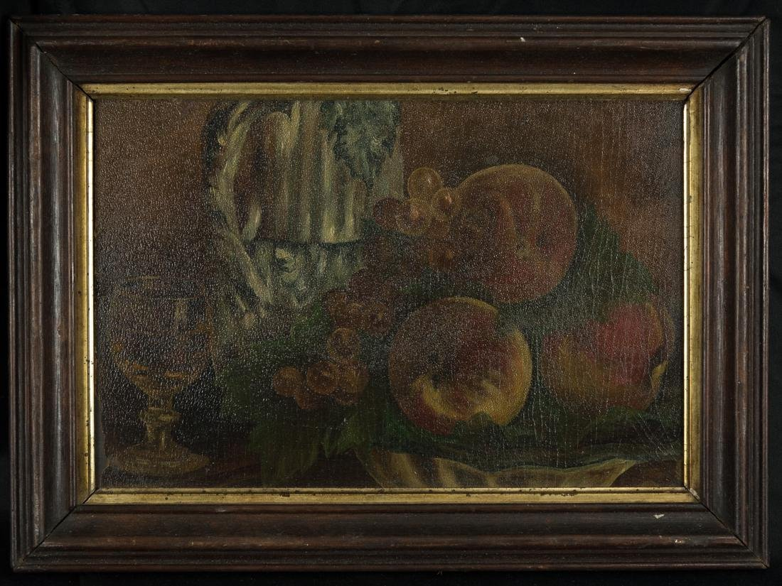 Still Life Peach and Grapes