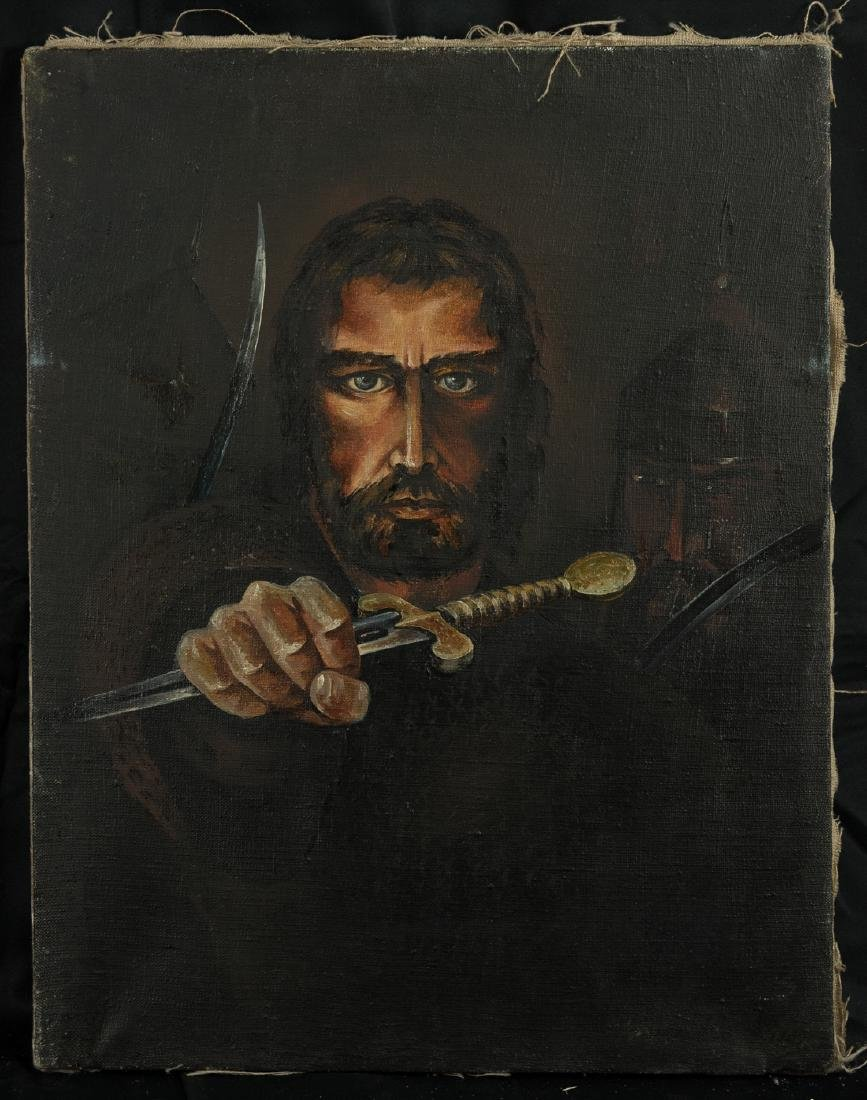 Russian Oil Painting Portrait of Warrior
