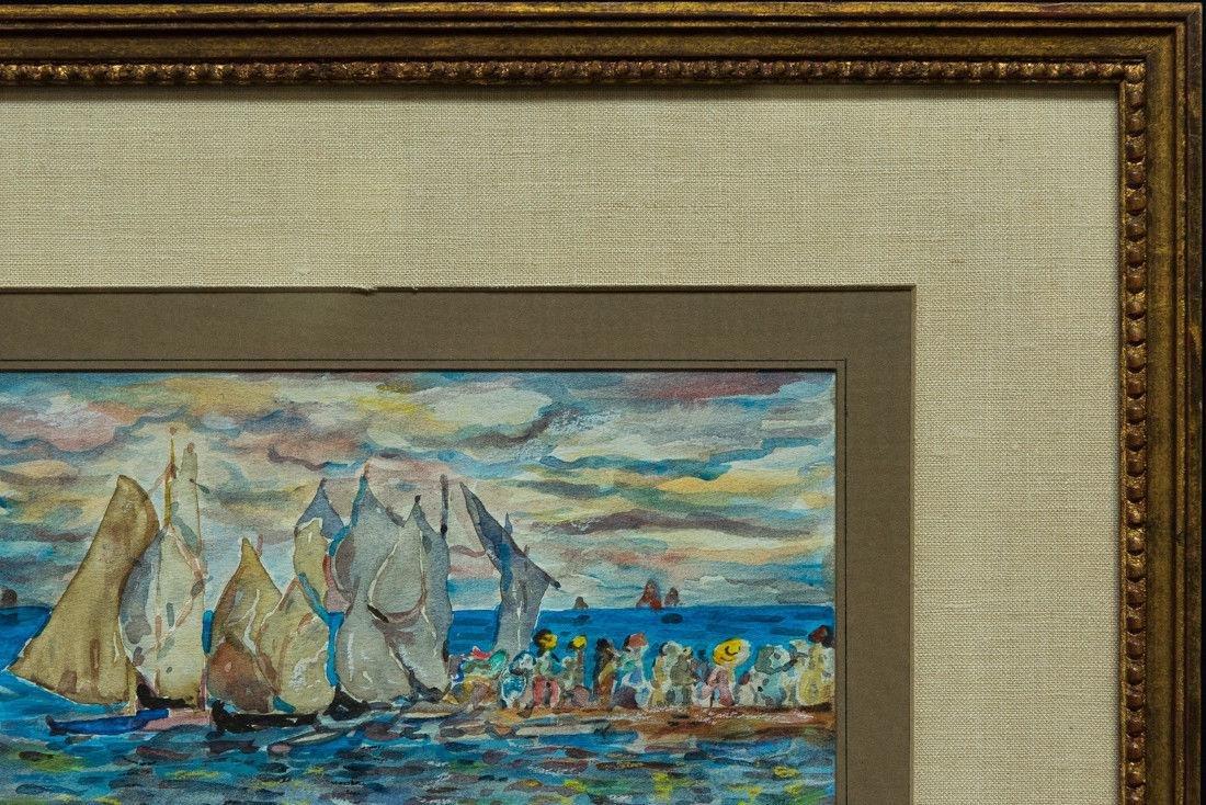 Maurice B. Prendergast  (NY/FR 1858 - 1924) Mixed Media - 5