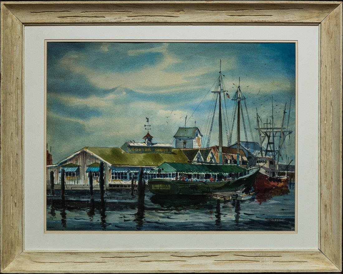 Henry Gasser  (NJ, 1909 - 1981) Watercolor