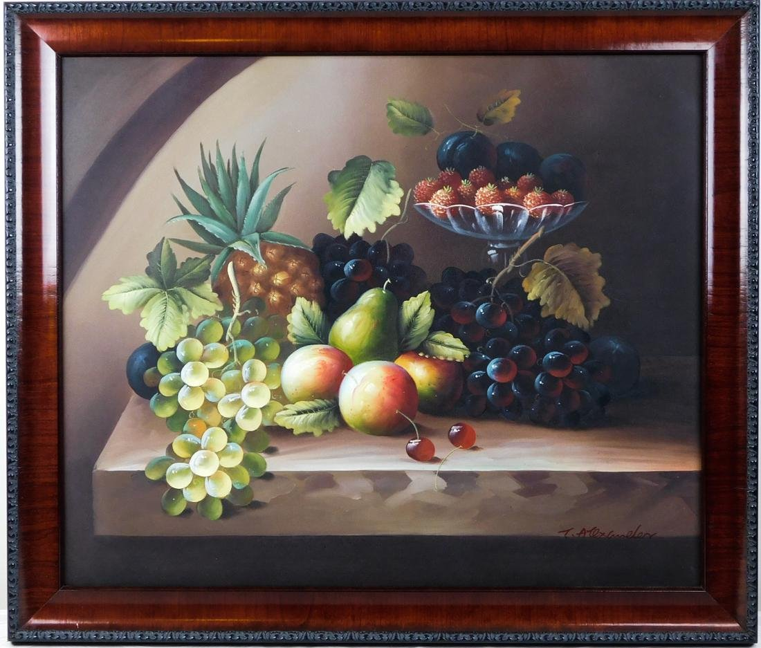 Tabletop Still Life with Fruits