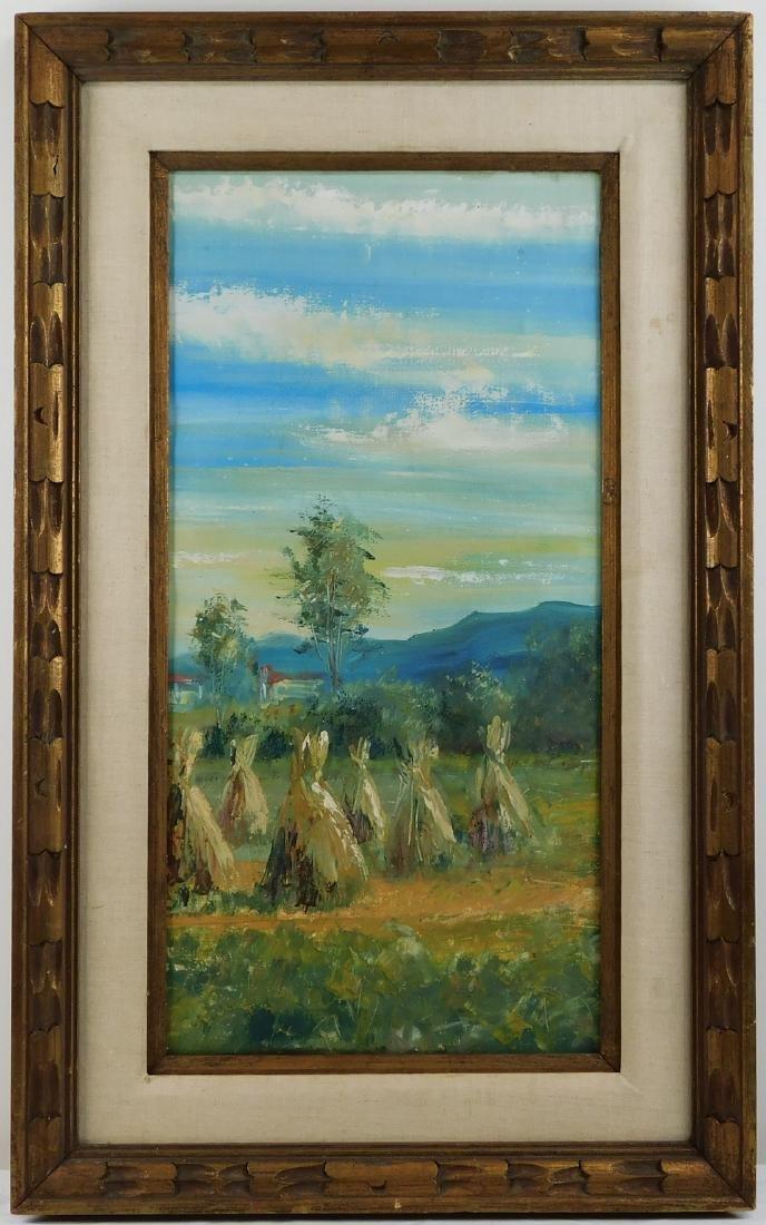 Summer Farm Landscape Oil on Canvas