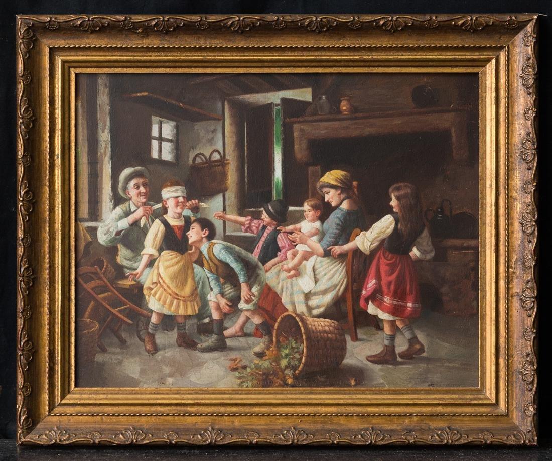 Family Scene/Children Playing