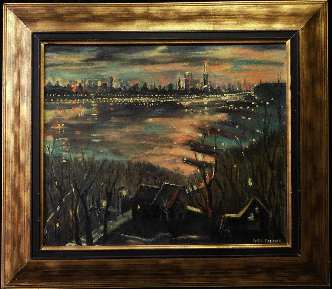 "Oil ""NYC View of the Long Island City"""