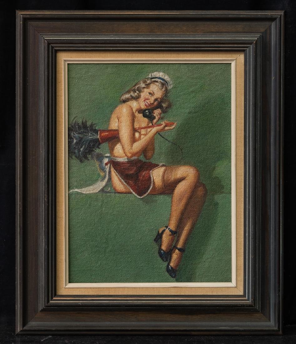 Pin Up Girl Sexy Maid Oil