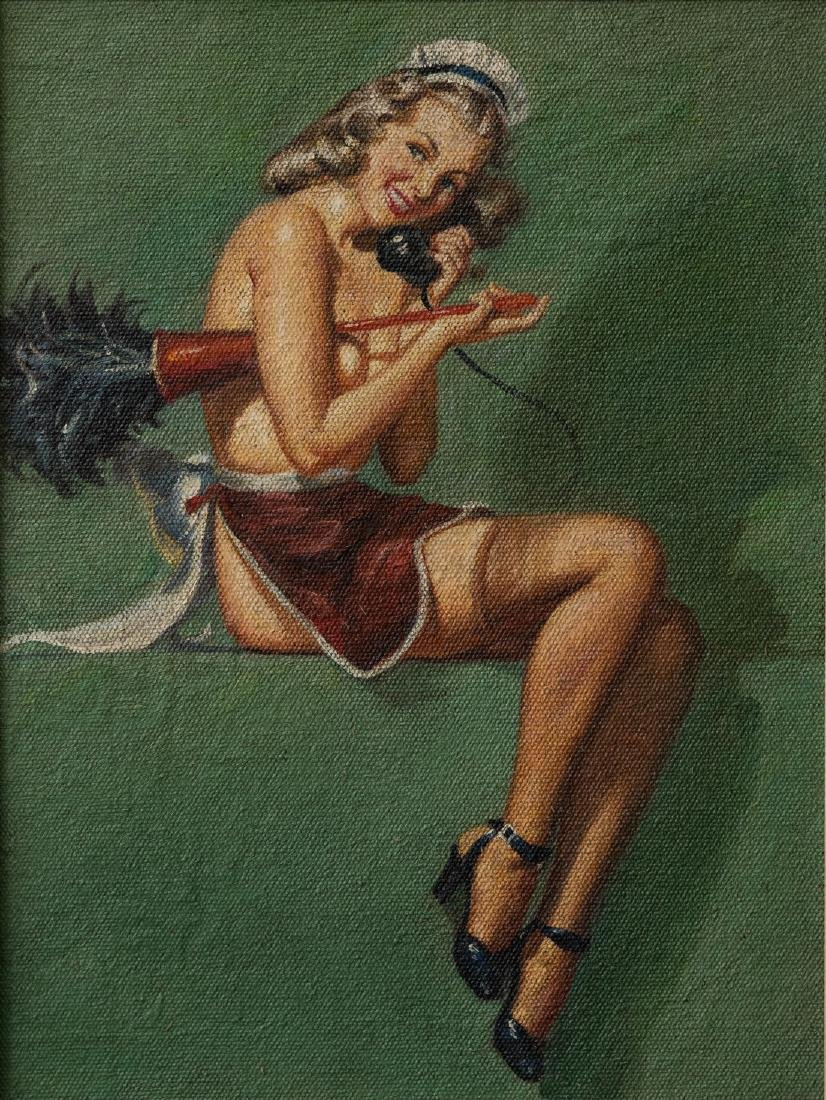 Pin Up Girl Sexy Maid Oil - 2