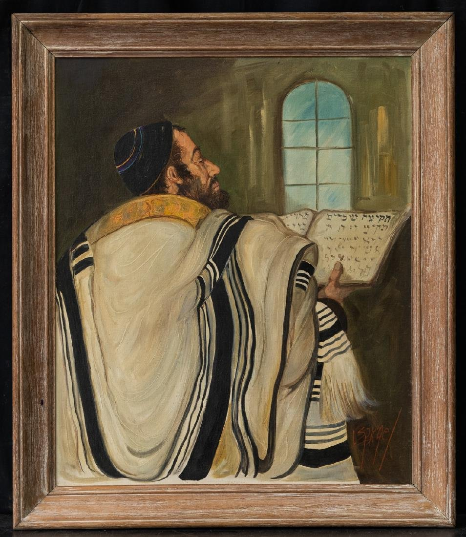 Vintage Judaicah Portrait Oil Painting