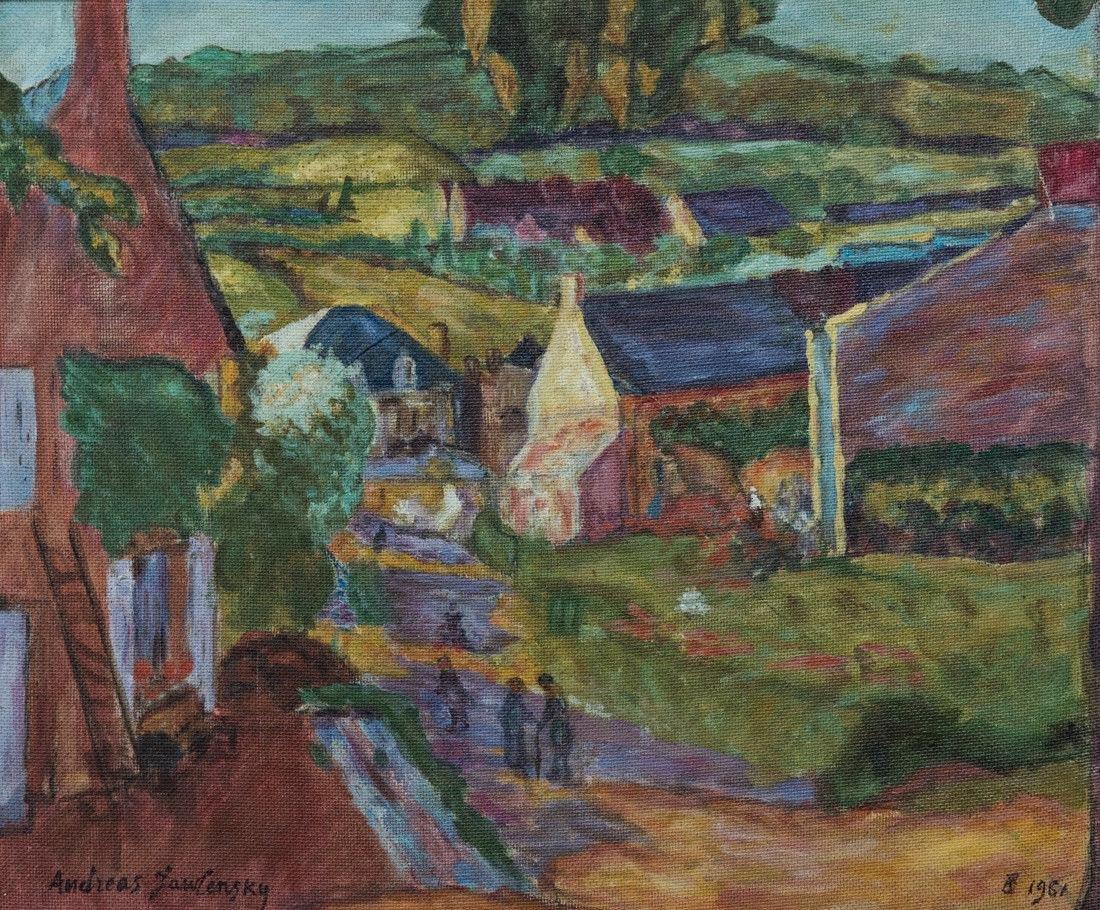 Andre Jawlensky  (Poland 1902 - 1984) Oil - 2
