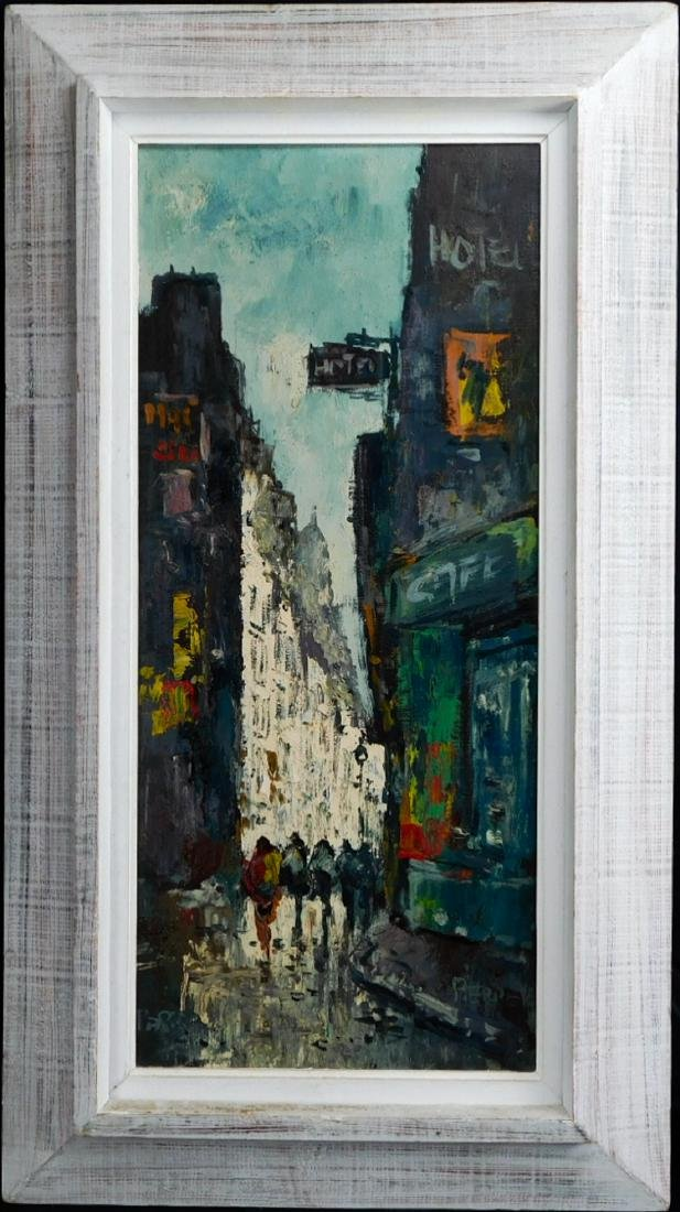 Modernist Paris Street Scene