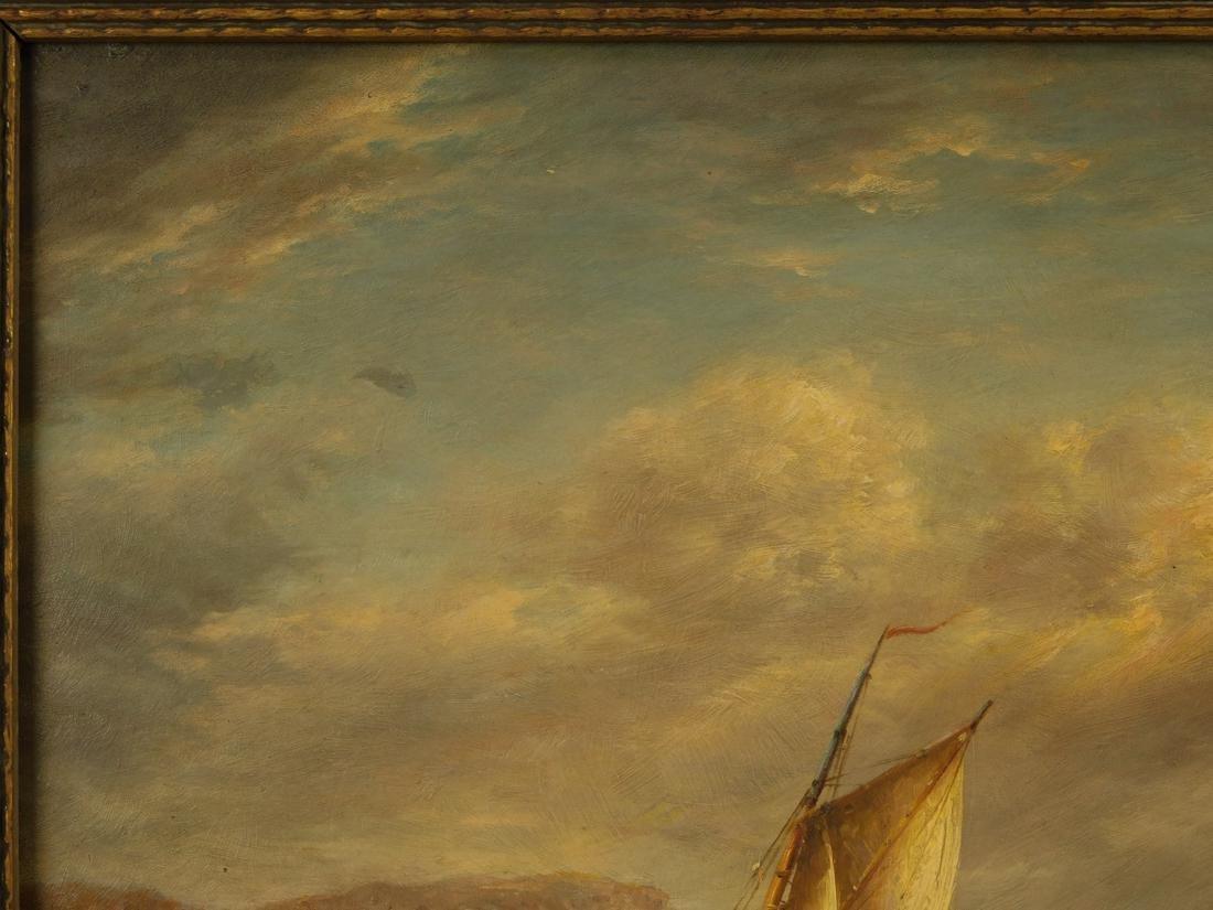 Sailships Oil on Artist Board - 3