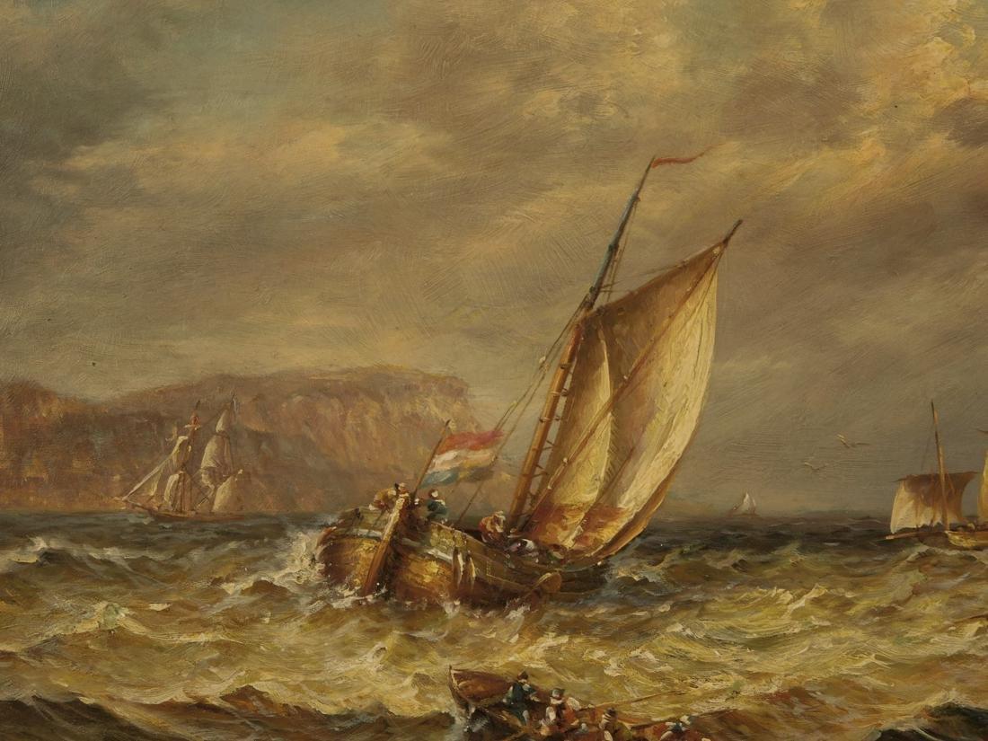 Sailships Oil on Artist Board - 7
