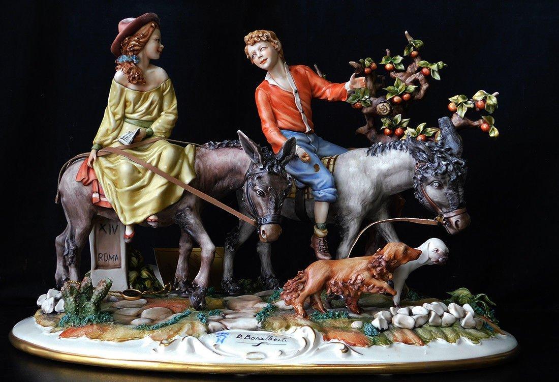D. BONALBERTI Figurine Works of Art, Made in Italy