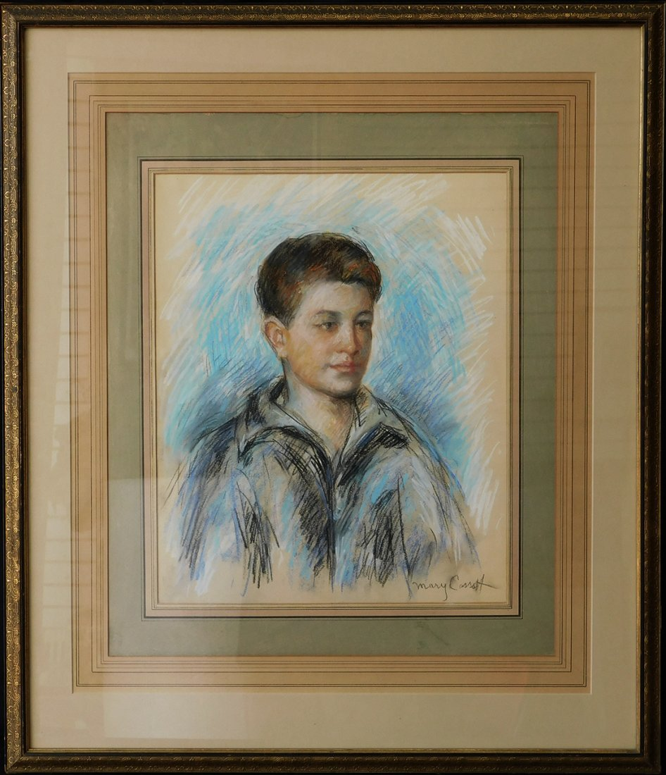 "Pastel Painting ""Portrait"" Signed Mary Cassatt"
