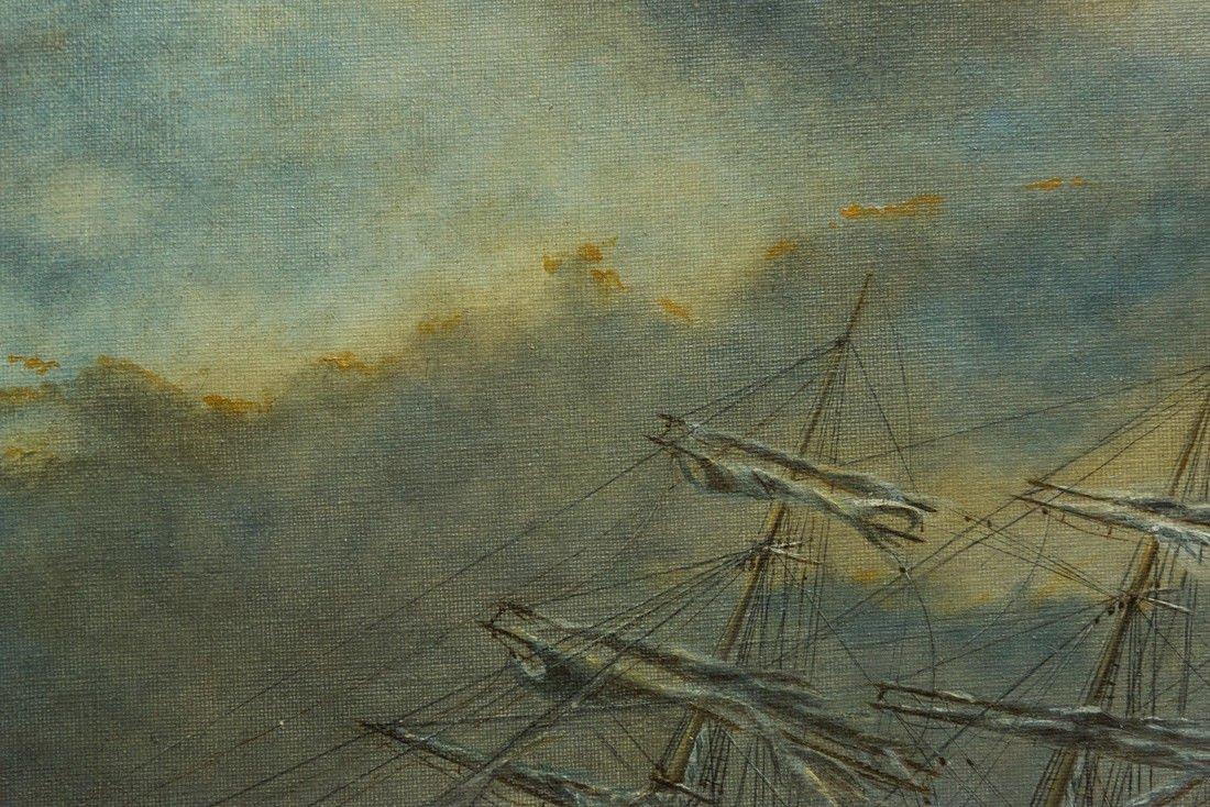 "Antonio Jacobsen 1850-1921 New York ""Mast Ship at Sea"" - 7"