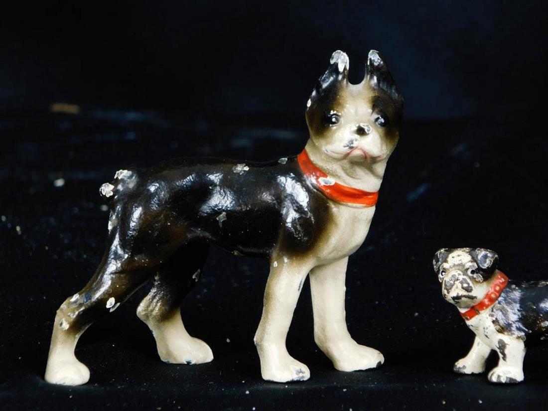 Antique Miniature Hubley Cast Iron Dog Figurines - 3