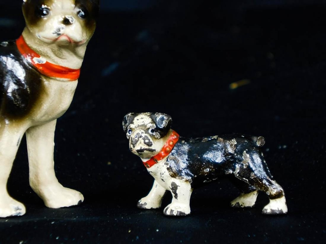 Antique Miniature Hubley Cast Iron Dog Figurines - 4