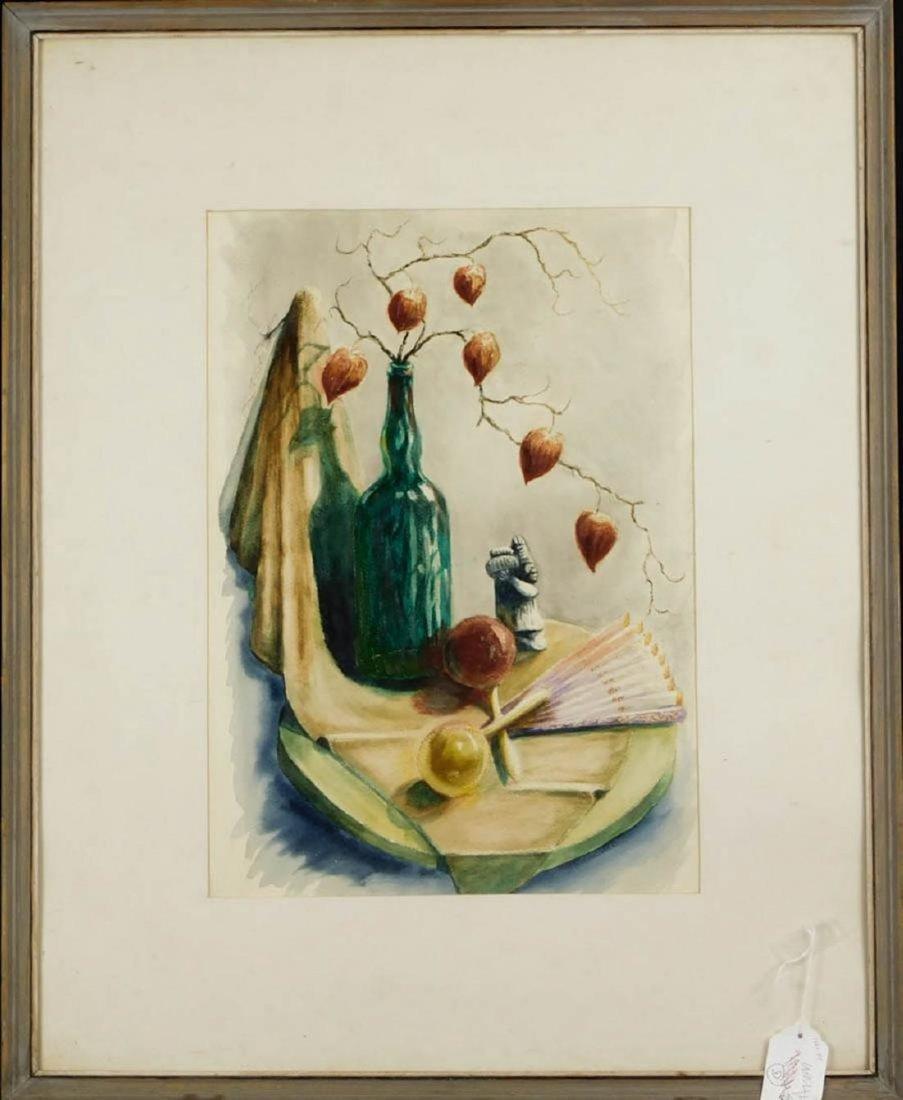 M Lewis Croissant (US 20th century) Watercolor