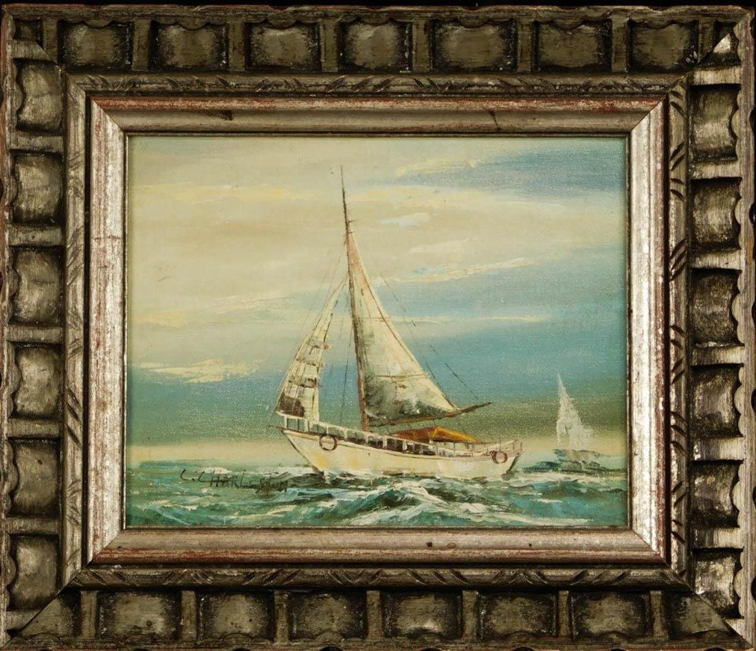 C. Charleston Sailboat Seascape Oil