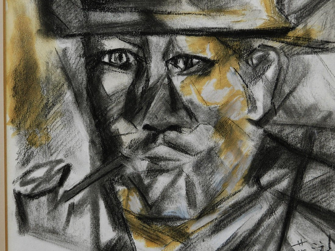 Gee Yun (China,1906-1963) Charcoal on Paper - 4