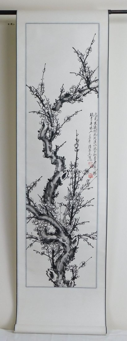 Antique Chinese Watercolor Painting Scroll