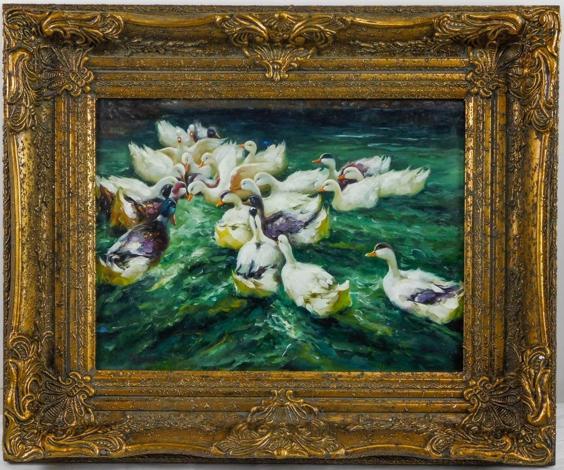 "Beautiful Oil Painting ""Ducks"""