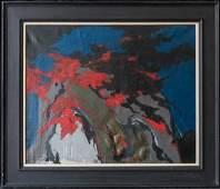 Large James Brooks  (NY, 1906 - 1992) Oil