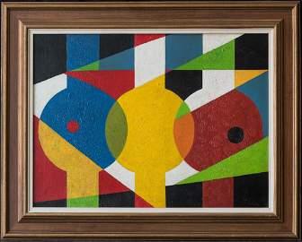 Charles Green Shaw (NY1892 - 1974) Abstract Oil