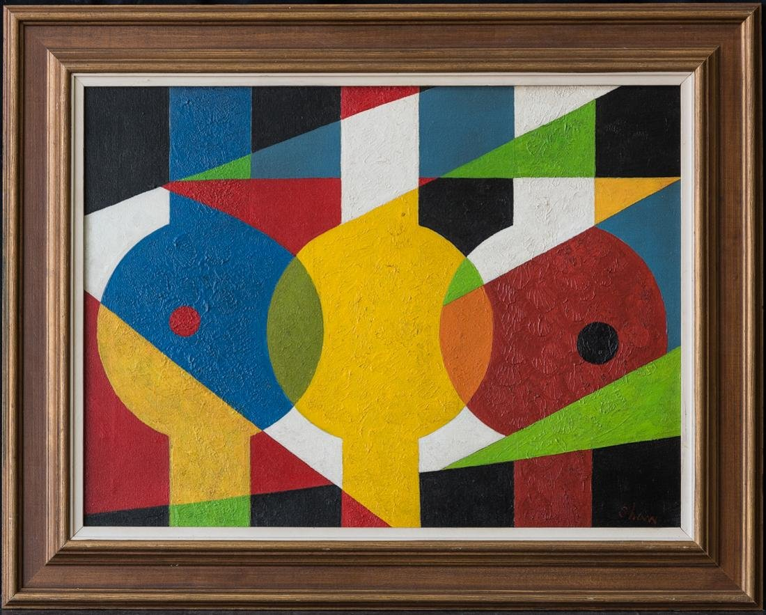 Charles Green Shaw (NY1892 - 1974) Abstract Oil