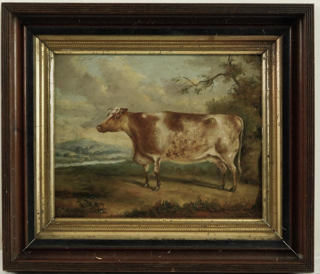 Antique American Folk Art Cow