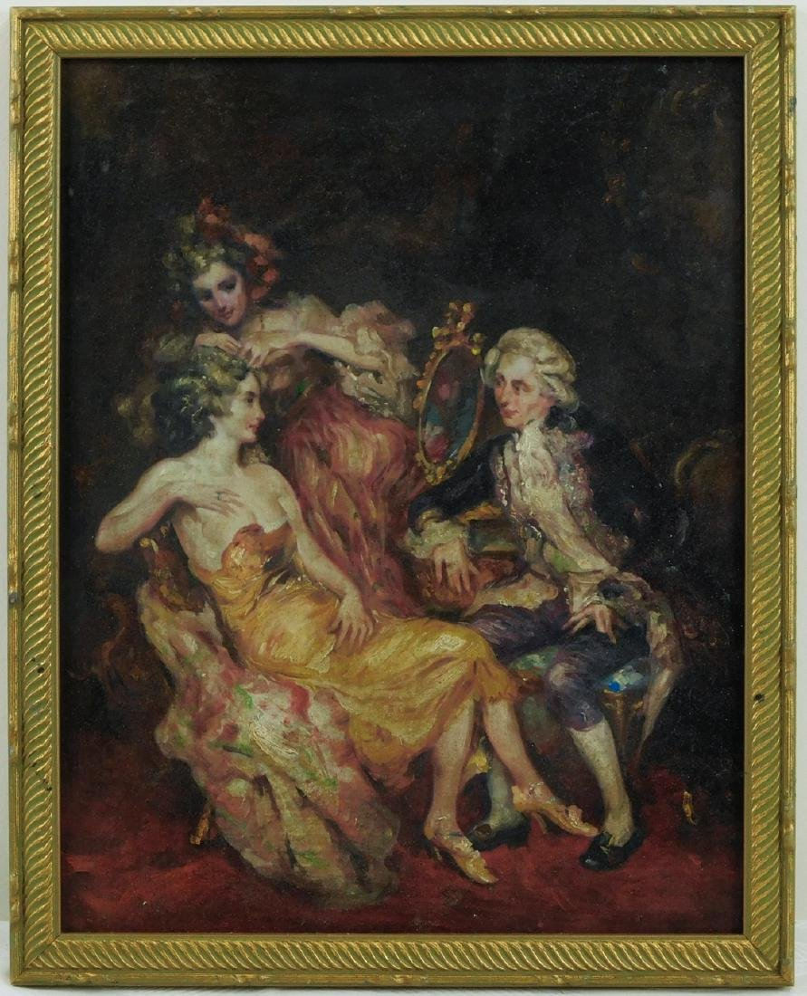 Old European Oil Painting