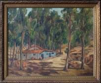 Ellsworth Woodward (MA/LA1861 - 1939) Oil