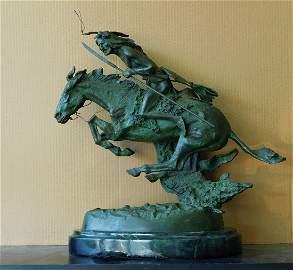 Antique Frederic Remington Bronze Statue Limited Ed