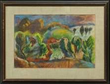 Morton Schamberg 1881-1918 Pennsylvania Artist Orig,