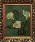 """Marian D. Harris (American 1904-1988) Oil """"Calla"""