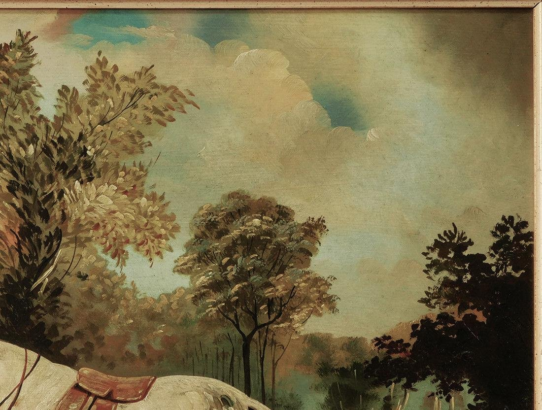 "Early 20th Century British Oil ""Portrait of Hunter"" - 5"