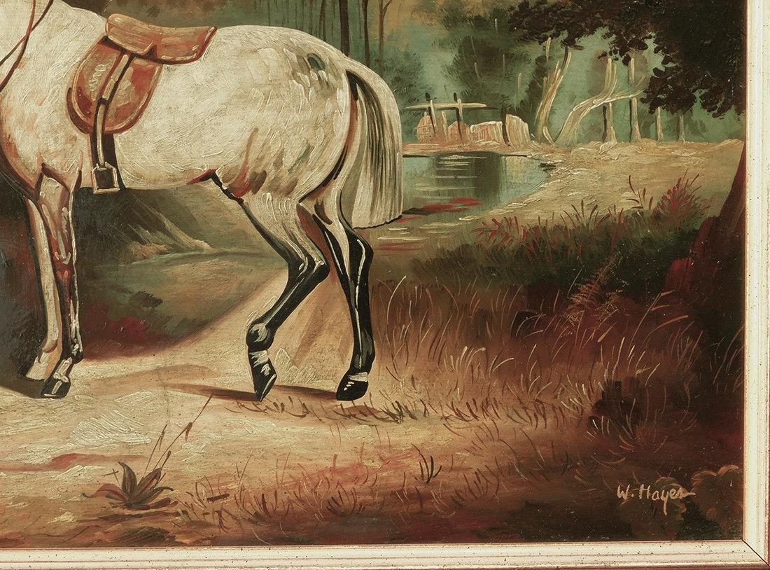 "Early 20th Century British Oil ""Portrait of Hunter"" - 6"