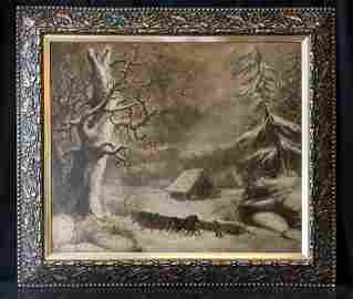 Large Connecticut Listed Artist George Durrie 1820-1863