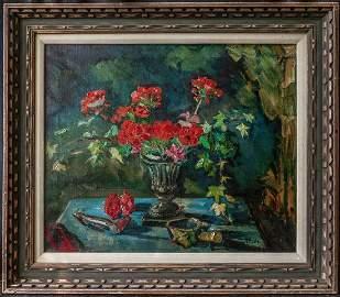 Liu Kang (China, Singapore 1911 - 2005)   Oil / Canvas,