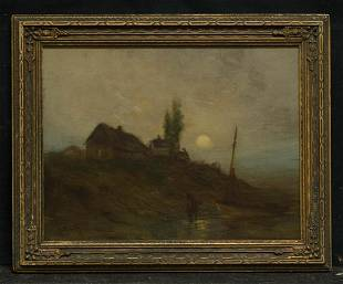 Charles Gifford 1839 - 1904 Massachusetts Artist Oil