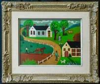Maud Lewis  (Nova Scotia / Canada 1903 - 1970) Oil