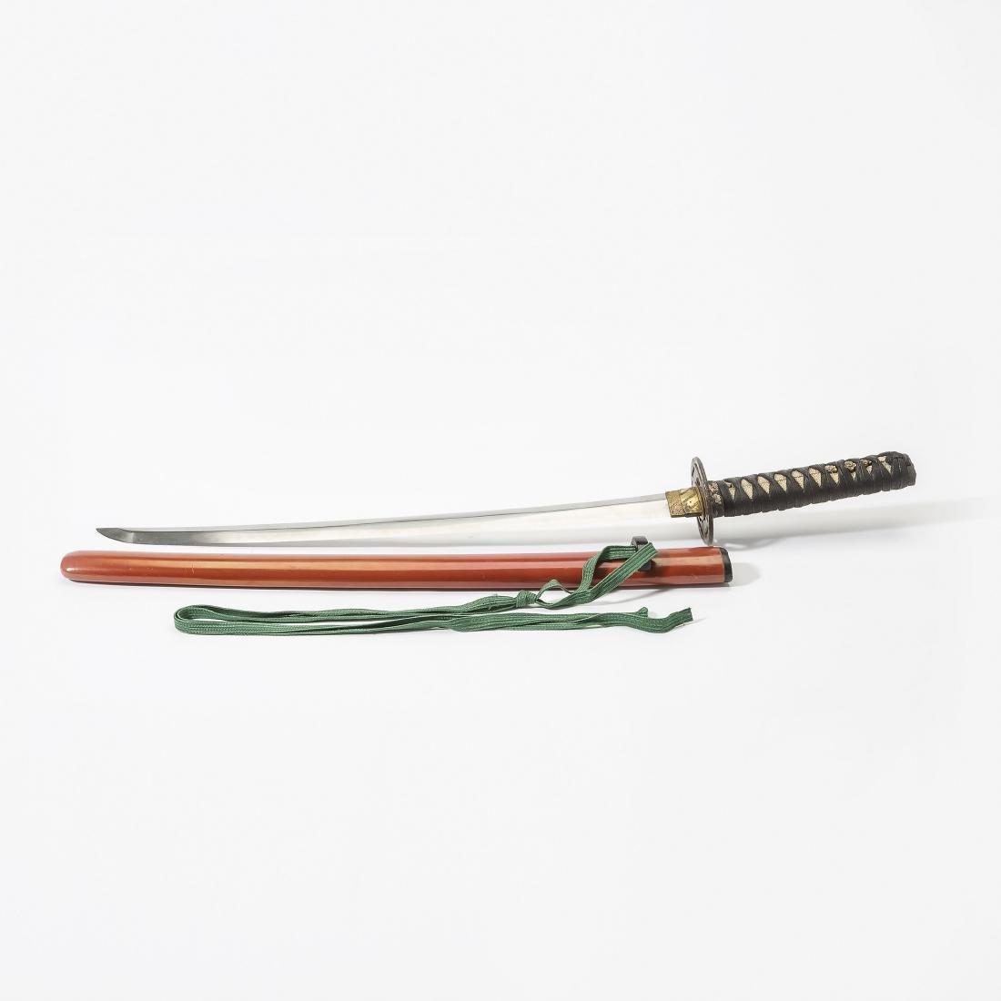 A Japanese wakizashi sword