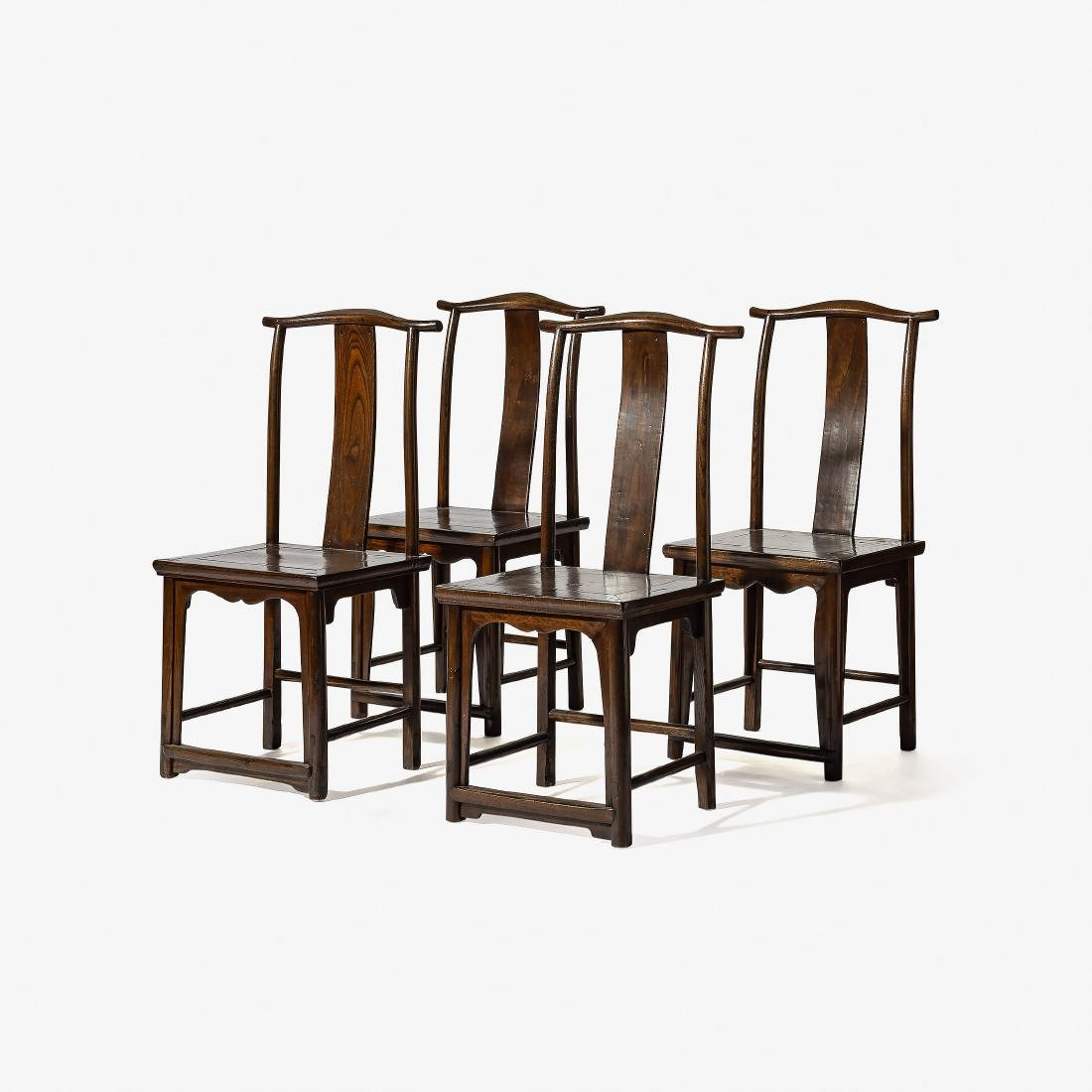 A Set Of Four Chinese Wooden U0027officialu0027s Hatu0027 Chairs