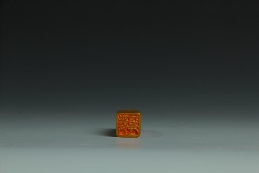 TIANHUANG STONE SCHOLAR'S SEAL - 8