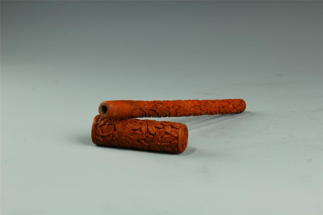 CINNABRA BRUSH QING DYNASTY - 3