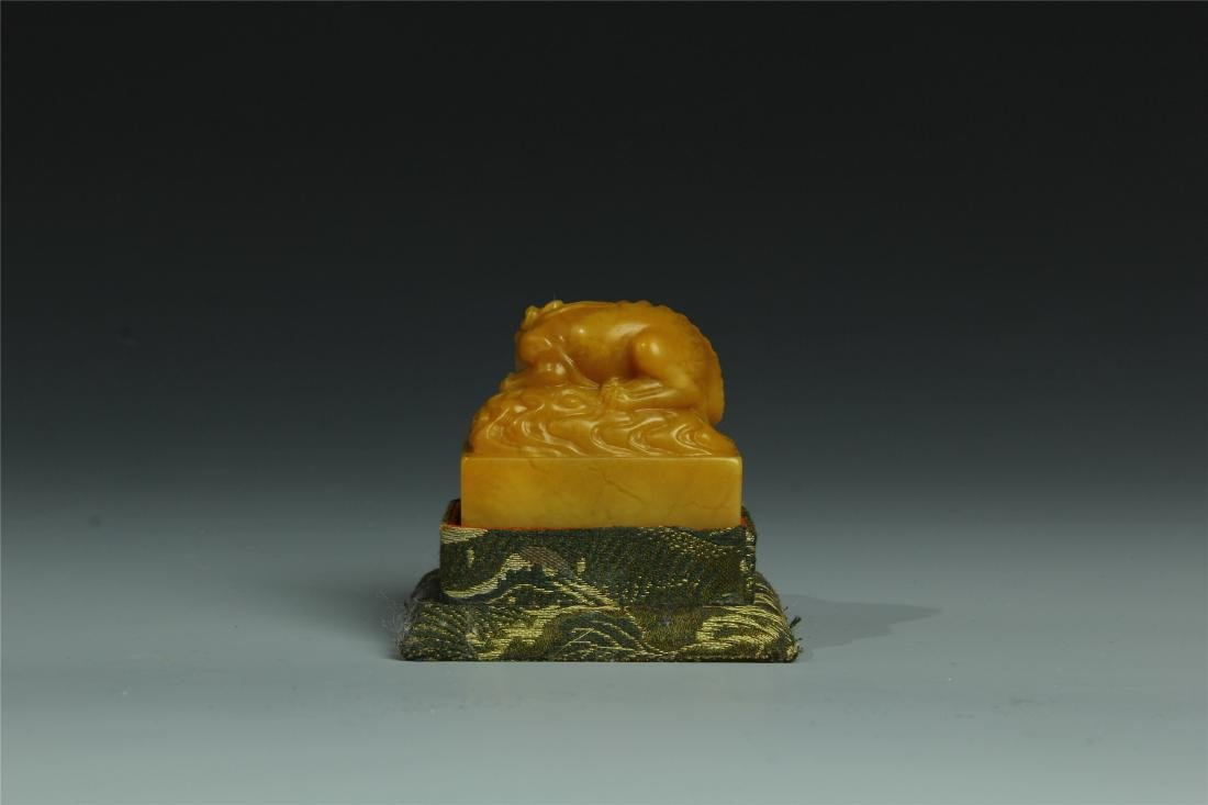 TIANHUANG STONE SCHOLAR'S SEAL - 2