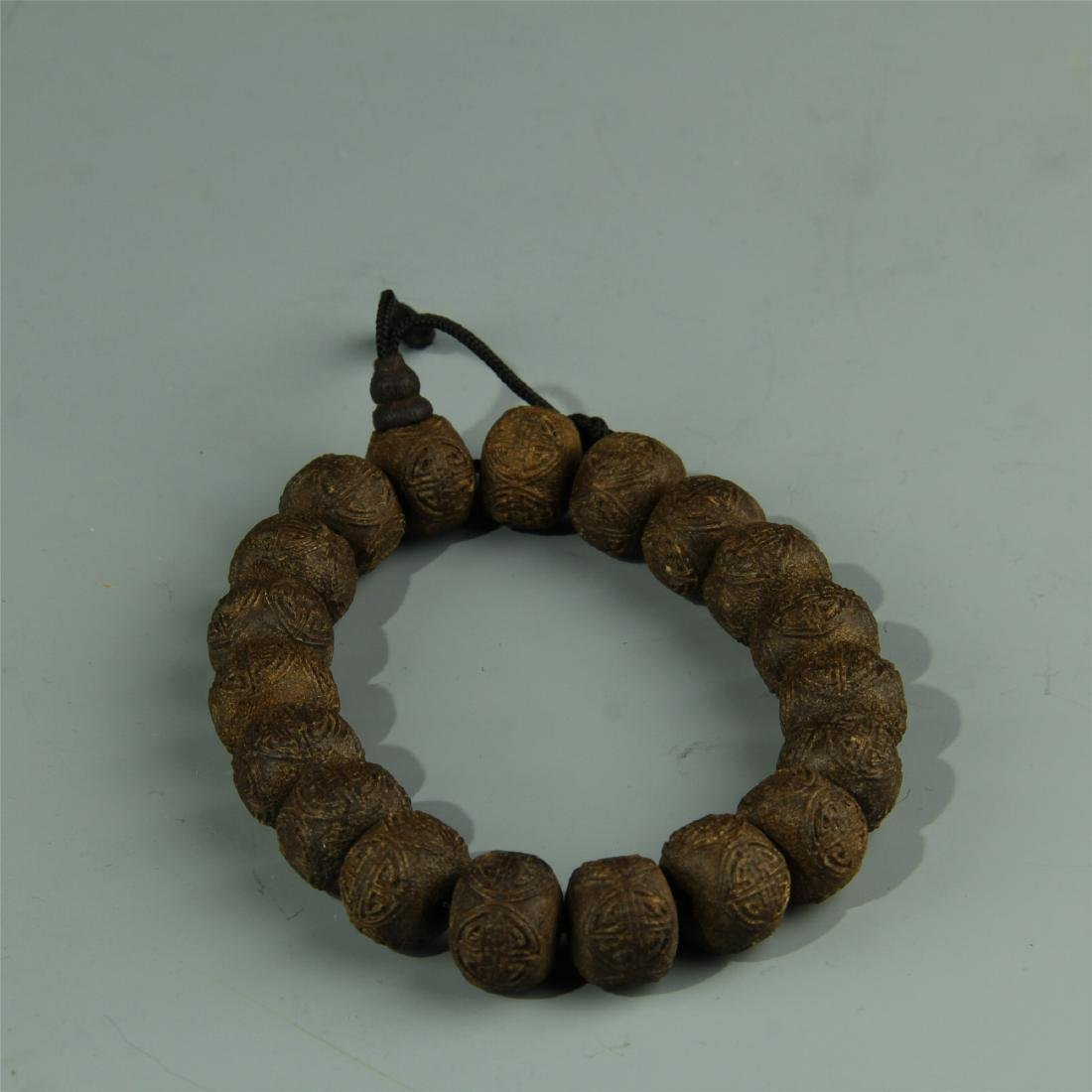 AGARWOOD BEADS WAIST LACE
